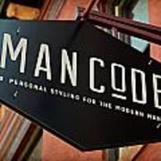 Man Code Art Print