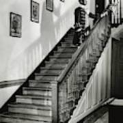 Man Dressed As Colonial Butler On The Stair Art Print
