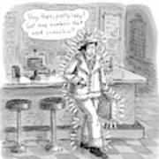 Man In A Rhinestone Suit Leans Against A Bar Art Print