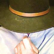Man In Hat Art Print