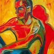 Man In Red Art Print