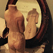Man In The Mirror Art Print