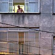 Man In The Window Art Print