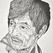 Man Looking Back Art Print by Glenn Calloway