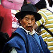Man Of Cotacachi Ecuador Art Print