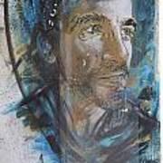 Man Portrait By C215 Art Print