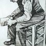 Man Reading The Bible Art Print by Vincent van Gogh