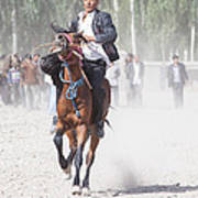 Man Riding A Horse At Kashgar Sunday Market China Art Print