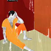 Man Sitting On Floor Of Jail Cell Art Print