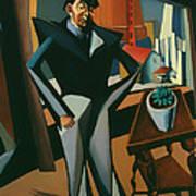Man Standing At A Window Art Print