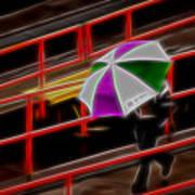 Man Under Umbrella Art Print
