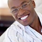 Man Wearing Glasses Art Print