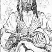Man With Chinese Violin Art Print