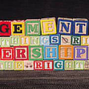 Management Is Doing Things Right Leadership Is Doing The Right Things Art Print