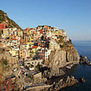 Manarola At Dusk Art Print
