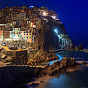 Manarola At Night Art Print