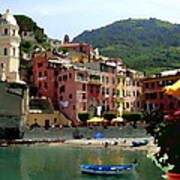 Waterfront - Vernazza - Cinque Terre - Abstract Art Print