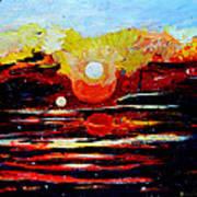 Manas Sarovr Lake-11 Art Print