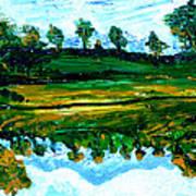 Manas Sarovr Lake-13 Art Print