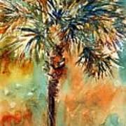 Manasota Key Palm 2 Art Print