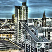 Manchester Buildings Hdr Art Print