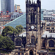 Manchester Cathedral Art Print