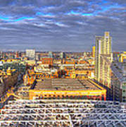 Manchester Skyline Panoramic Hdr Art Print
