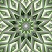 Mandala 107 Green Art Print