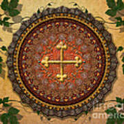 Mandala Armenian Cross Sp Print by Bedros Awak