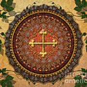 Mandala Armenian Cross Sp Art Print by Bedros Awak