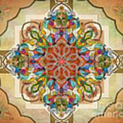 Mandala Birds Sp Art Print by Bedros Awak