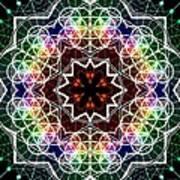Mandala Cage Of Light Art Print