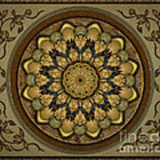 Mandala Earth Shell Sp Print by Bedros Awak
