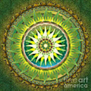 Mandala Green Art Print by Bedros Awak