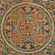 Mandala Of Heruka In Yab Yum And Buddhas Art Print