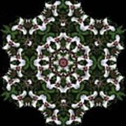 Mandala Trillium Holiday Art Print