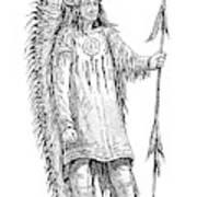 Mandan Indian Chief Art Print