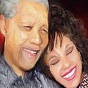 Mandela And Whitney Art Print