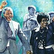Mandela - Leaving Prison Art Print