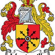 Mandeville Coat Of Arms Irish Art Print