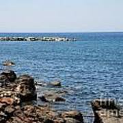Mandraki Coastline Nisyros Art Print