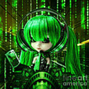 Manga Matrix Art Print