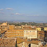 Mangia Tower Piazzo Del Campo  Siena  Art Print
