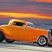 Mango Madness 1933 Ford Hiboy Coupe Art Print