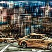 Manhattan - Yellow Cabs - Future Art Print