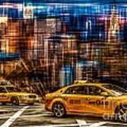 Manhattan - Yellow Cabs I Art Print by Hannes Cmarits