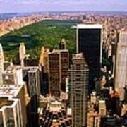 Manhattan And Central Park Art Print