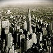 Manhattan And Chrysler Building II Art Print