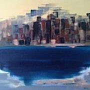 Manhattan Au Decollage De Teterboro Art Print