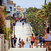 Manhattan Beach Boardwalk Art Print